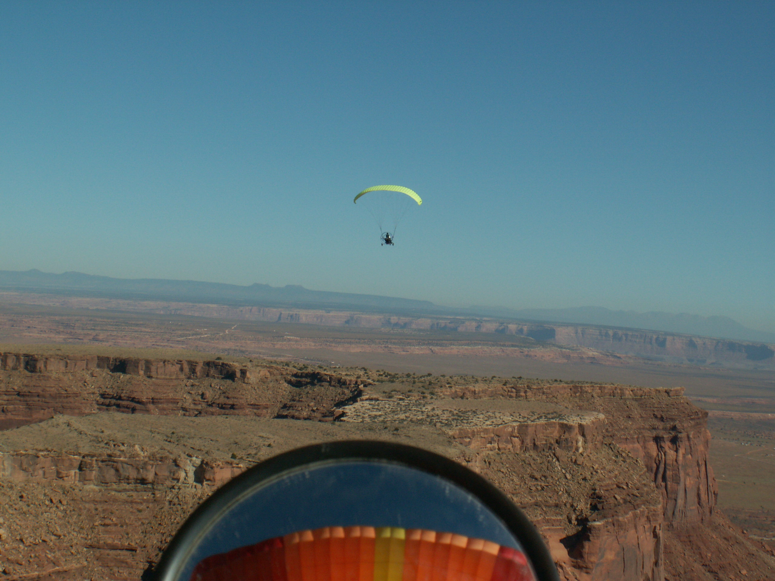 monument valley powered parachute or paraplane flight