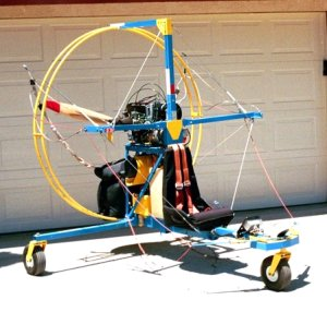 old model powered parachute or paraplane