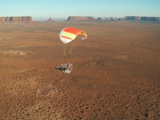 Powered Parachute Flying in Monument Valley, Utah